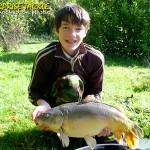 Sam Weedon with a Cornskin caught carp