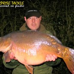 Stewart Harris with a cracking canal mirror on ET13L tipped boilie