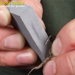 To take down the plating quicker try holding the hook steady and rubbing across the point.